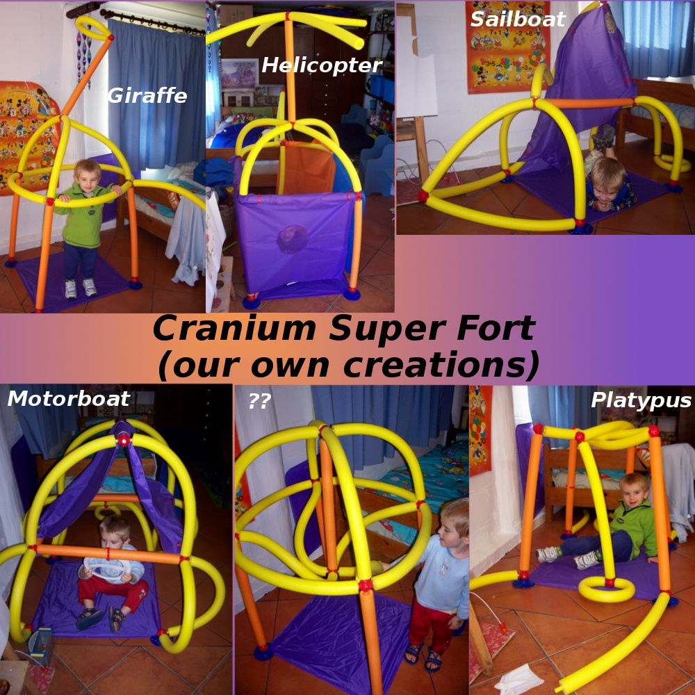 We got Mr 3 a Cranium Super Fort for his birthday. Thought it would be a brilliant present when I saw it u2013 although was a bit skeptical as to whether the ... & Imagination   Bowes Clan